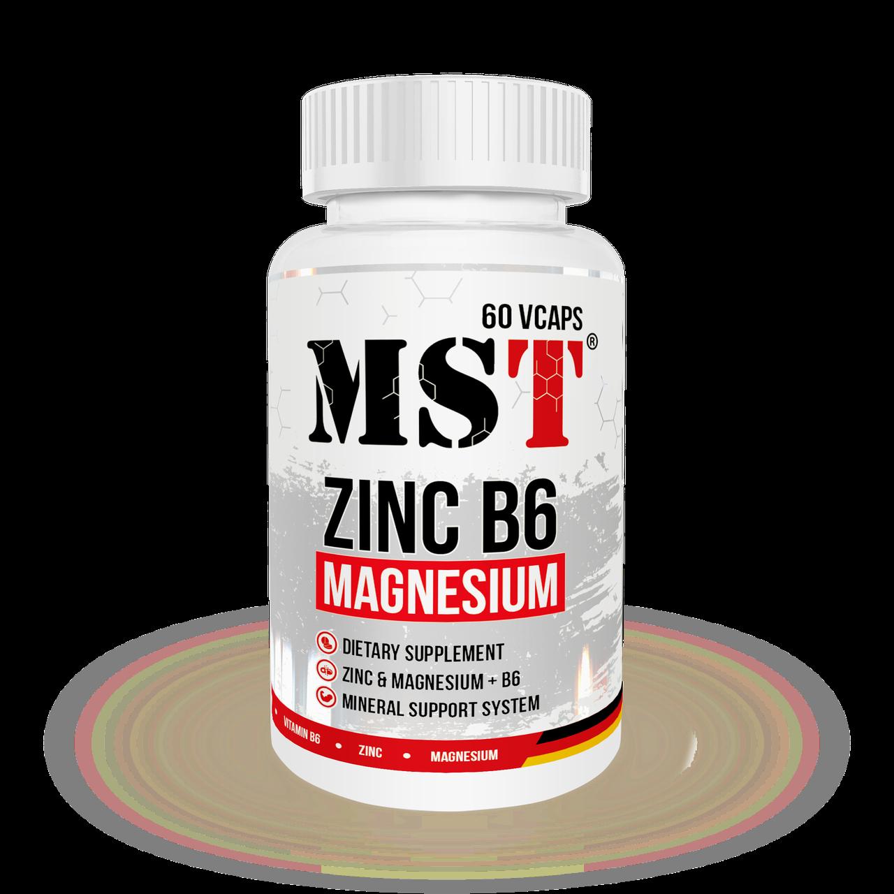 MST Zinc Magnesium B6 120vcaps