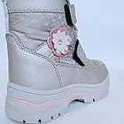 Зимние термо-сапожки от Том М девочкам, р 27 стелька 17,2 см Серебряные детские термо ботинки, фото 4