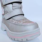 Зимние термо-сапожки от Том М девочкам, р 27 стелька 17,2 см Серебряные детские термо ботинки, фото 9