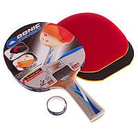 Набір для настільного тенісу 1 ракетка, 2 накладки DONIC LEVEL, деревина (МТ-752518)