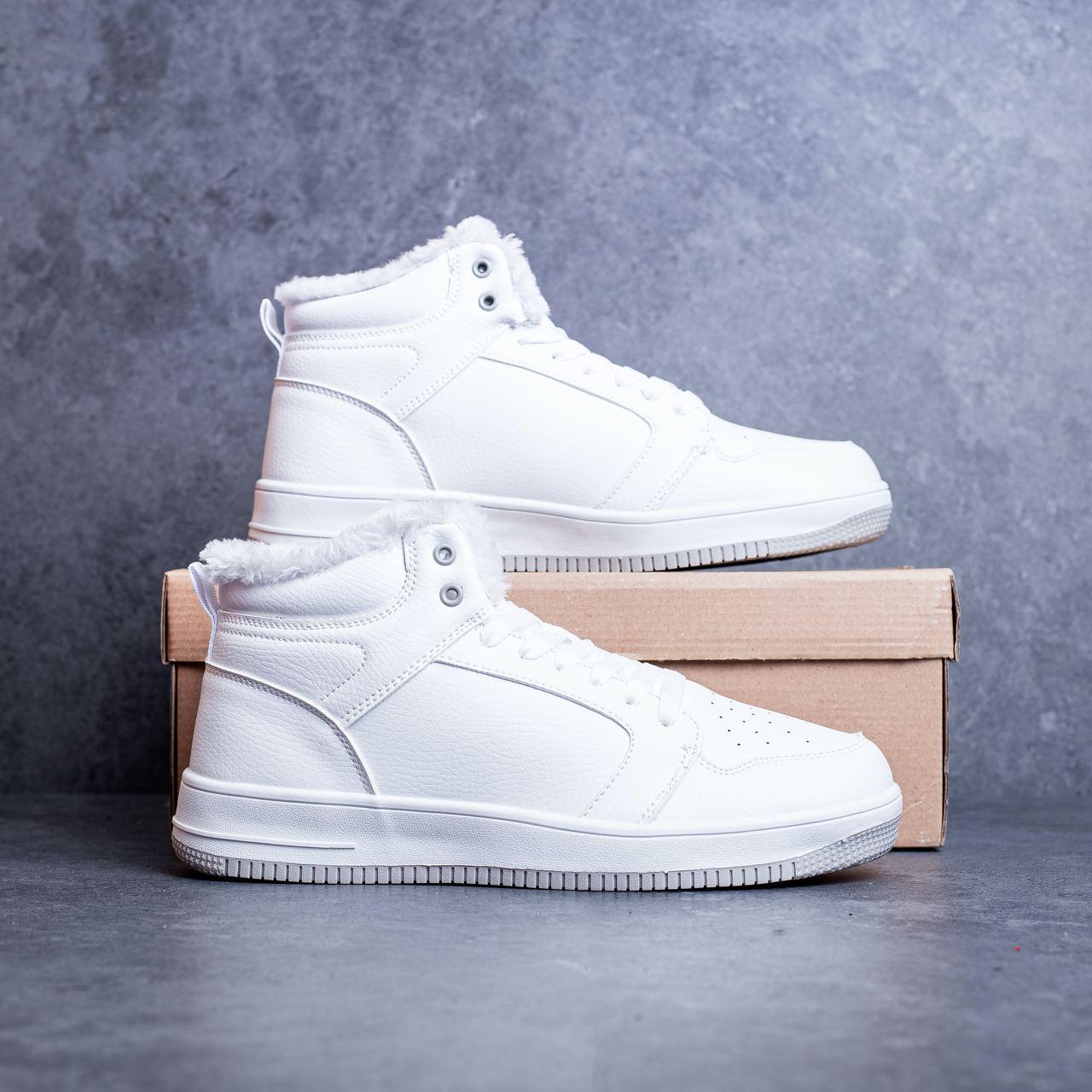 Мужские ботинки Стилли форс хай Pobedov (белые)