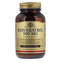 Ресвератрол 500 мг, Solgar, 30 гелевых капсул