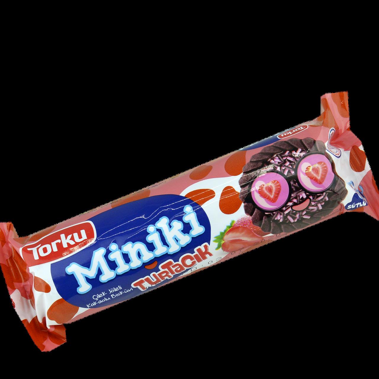 Печенье Torku Miniki с какао и с клубничным желе  94г(уп/24шт)