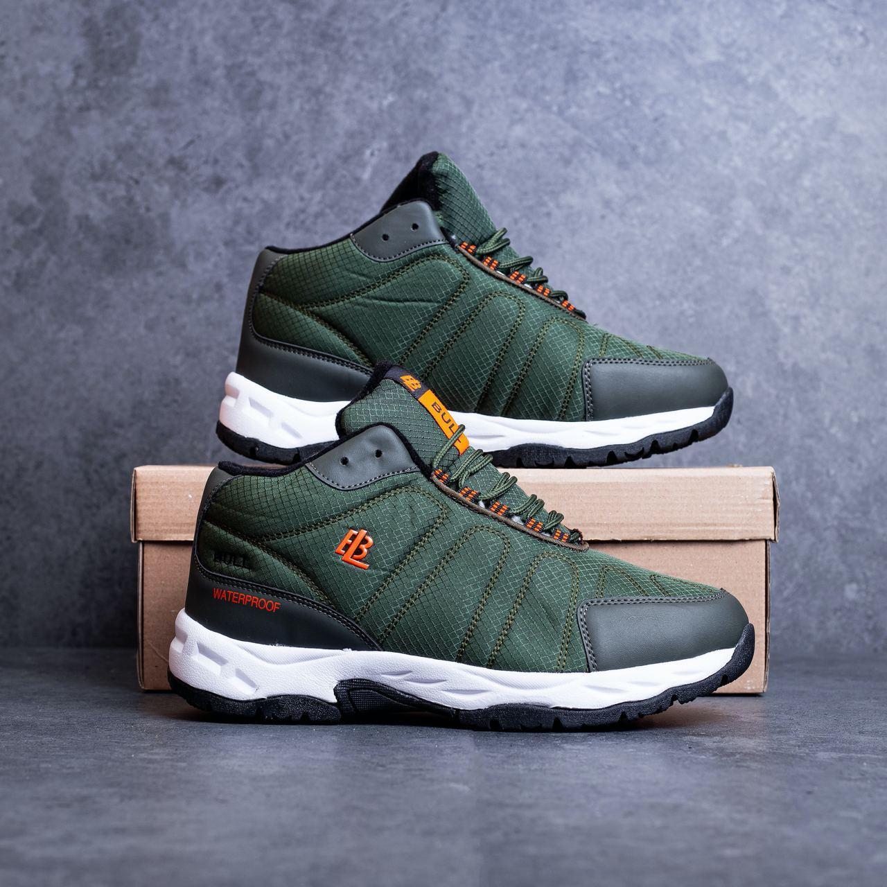 Мужские ботинки Булл Ватерпруф Pobedov (зеленые)