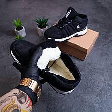 Мужские ботинки Булл Ватерпруф Pobedov (черные с белой подошвой), фото 3