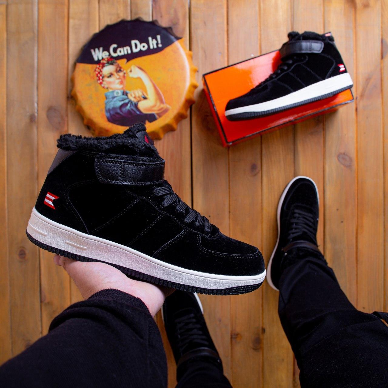 Мужские ботинки Стилли Белт Pobedov (черные с белой подошвой) 41