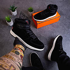 Мужские ботинки Стилли Белт Pobedov (черные с белой подошвой) 41, фото 3
