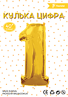"Flexmetal ЦИФРА ""1""  (100см) Золото в упаковке"