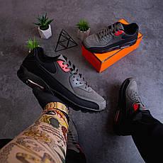 Чоловічі черевики Ривал 90 лоу Pobedov (чорно-сірі) 45, фото 3