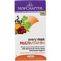 Мультивитамины для Мужчин, Every Man, New Chapter, 72 таблетки