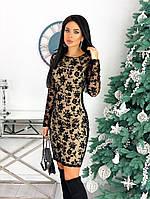 Женское красивое платье с 42 по 48 рр креп дайвинг + сетка