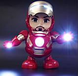 Танцующий робот | Интерактивная игрушка IRON MAN | Танцующий железный человек, фото 6