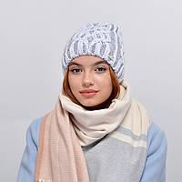 Женская шапка veilo на флисе 3340 светлый серый