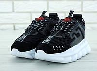 Мужские черные кроссовки Versace Chain Reaction