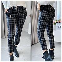 Женские брюки, джинсовые брюки в клетку, фото 1