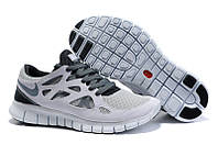 Кроссовки мужские беговые Nike Free Run Plus 2 (найк фри ран) белые