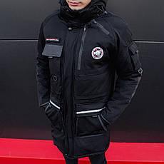 Мужская зимняя парка МГС классик Pobedov (черная) S, 46 L, 50, фото 3