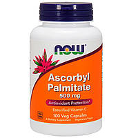 Аскорбил Пальмитат, Ascorbyl Palmitate, Now Foods, 500 мг, 100 вегетарианских капсул