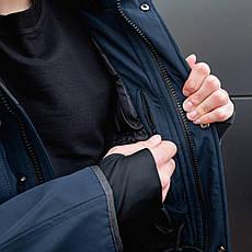 Чоловіча зимова парку МДР класик Pobedov (темно-синя) XXL, 54, фото 3