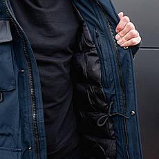 Чоловіча зимова парку МДР класик Pobedov (темно-синя) XXL, 54, фото 2