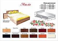 Полуторная деревянная кровать Азалия (бук массив)