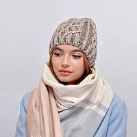 Женская шапка veilo на флисе 3340 средний беж