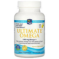 Рыбий Жир, Вкус Лимона,Nordic Naturals, Ultimate Omega, 1000 мг, 60 мягких капсул