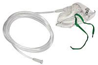 Маска киснева для дорослих на резинці, алюмінієва пластина з трубкою, довжина 2,1 м Droh(Німеччина), фото 1