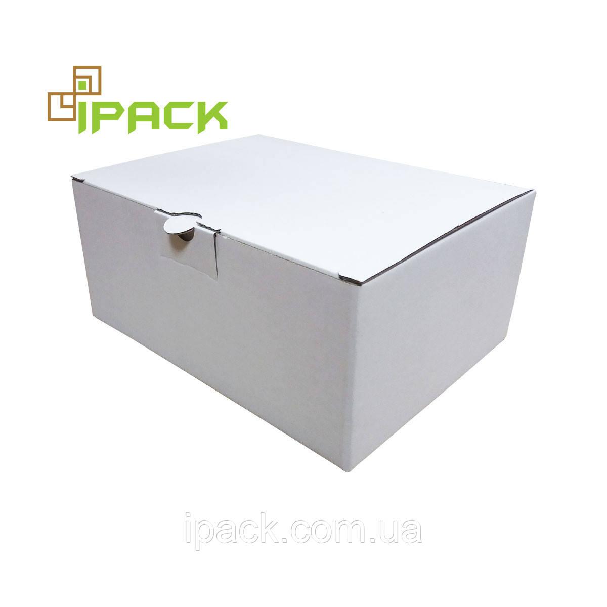 Коробка картонна самозбираюча 150*143*100 мм біла мікрогофрокартон