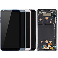 Дисплей для LG G6 H870, H871, H872, H873, LS993, US997, VS998, модуль (екран і сенсор), з рамкою, оригінал, фото 1