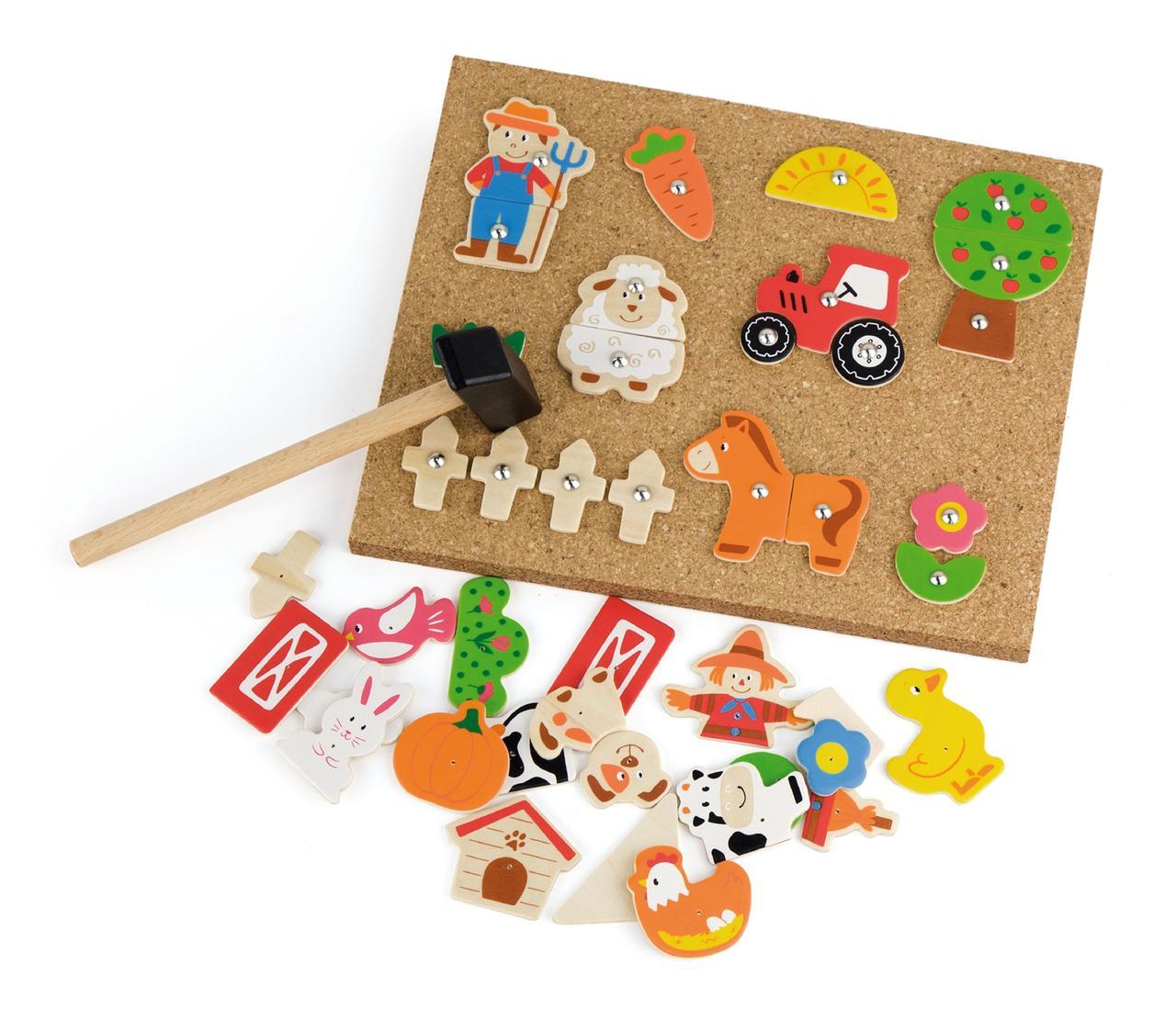 Набор для творчества Деревянная аппликация Ферма Viga Toys 51606