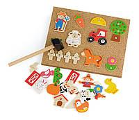 Набор для творчества Деревянная аппликация Ферма Viga Toys 51606, фото 1