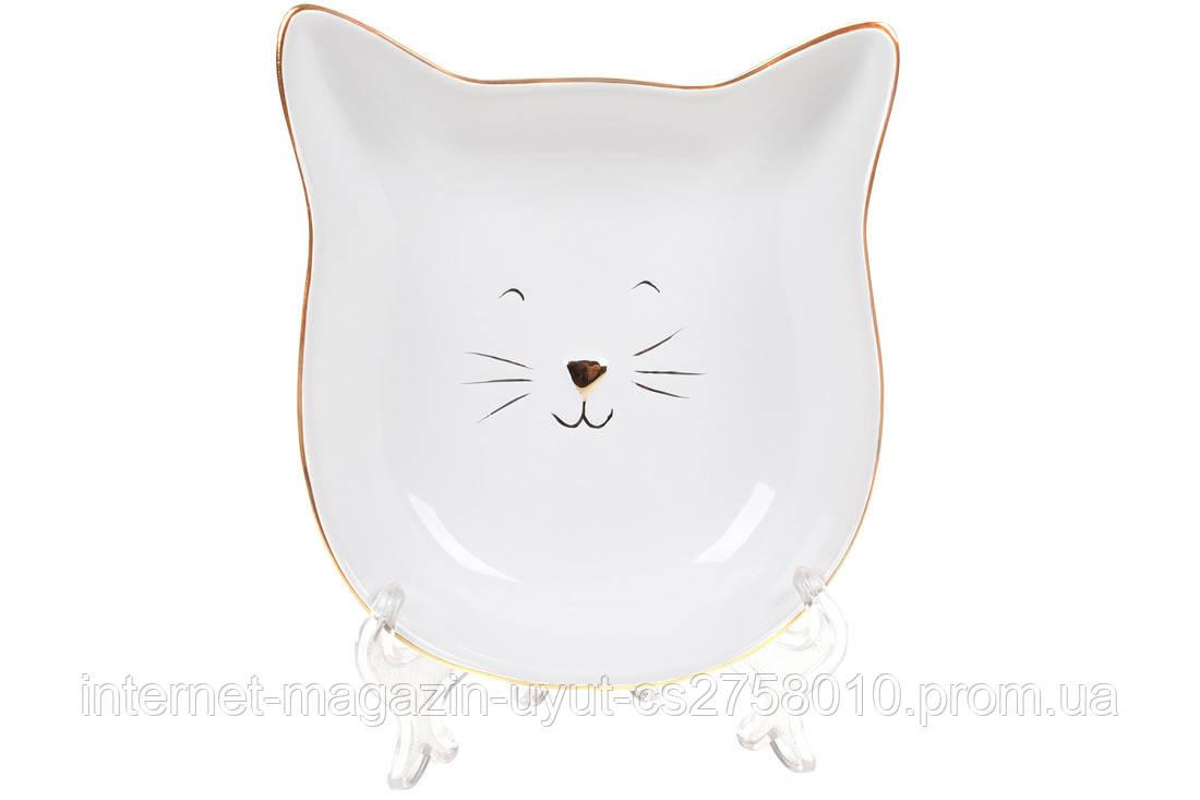 """Набор 6 пиал керамических """"Кошечка с ушками"""", 14.7см, белый"""