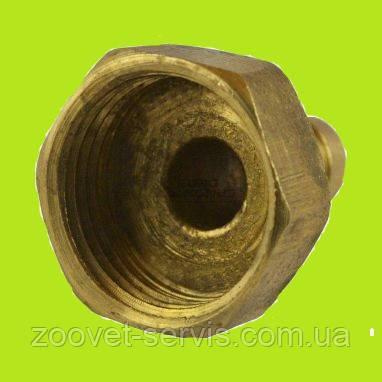 Штуцер латунный с внутренней резьбой 1/2 под шланг 8 мм, фото 2