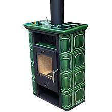 Печь-камин Thorma Borghollm Ceramik Black/olivegreen Top