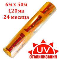 Пленка тепличная 6м х 50м 120мк 4х сезонная уф-стабилизированная полиэтиленовая для теплицы, парника., фото 1