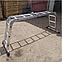 Лестница шарнирная трансформер четырехсекционная алюминиевая, фото 3