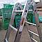 Лестница шарнирная трансформер четырехсекционная алюминиевая, фото 10