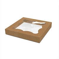 Упаковка для пряников и печенья 200х200х30 мм, крафт (ящ:500 шт)