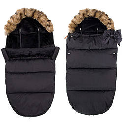 Детский конверт для коляски, санок, переносок и кроваток 4 в 1 Springos SB0003 Black черного цвета