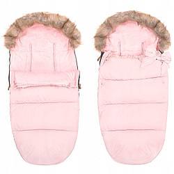 Детский конверт для коляски, санок, переносок и кроваток 4 в 1 Springos SB0017 Pink розового цвета