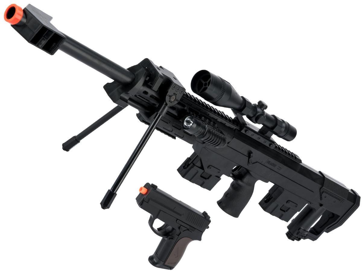 Игрушечный пневматический автомат с пистолетом CYMA P.1161 (набор 2 в 1) реплика DSR-1
