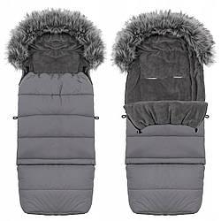 Детский конверт для коляски, санок, переносок и кроваток Maxi 4 в 1 Springos SB0023 Grey серого цвета