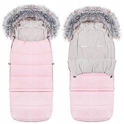 Детский конверт для коляски, санок, переносок и кроваток Maxi 4 в 1 Springos SB0024 Pink розового цвета