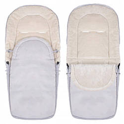 Детский конверт для коляски, санок, переносок и кроваток 4 в 1 Springos SB0035 Grey серого цвета