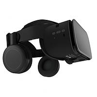 Очки шлем виртуальной реальности Bobo VR Z6 3D для смартфона с Наушниками и Пультом ДУ (Черные)