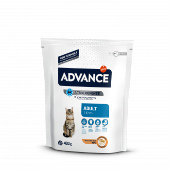 Сухой корм Advance Cat Chicken&Rice для взрослых котов с курицей и рисом, 0,4 кг