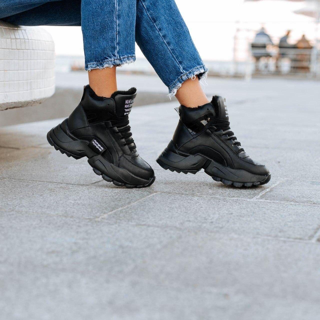 Жіночі зимові високі кросівки