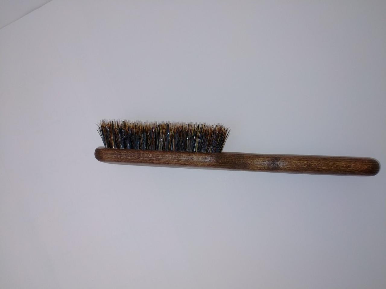 Щетка для волос и массажа головы из натуральной щетины кабана
