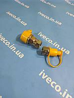 Головка воздушная соединительная универсальная М22*1,5 желтая с пыльником муфта MG36009